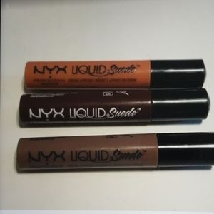 Lot of (3) New NYX Liquid Suede Lipstick
